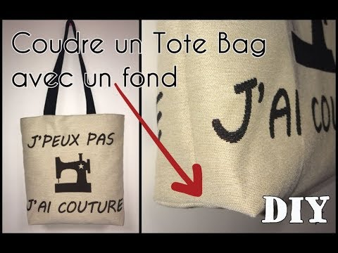 coudre un tote bag avec un fond tuto couture diy d butant youtube. Black Bedroom Furniture Sets. Home Design Ideas