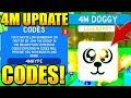 SECRET 4M PET UPDATE CODES IN SLAYING SIMULATOR! Roblox
