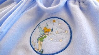 Tinkerbell Applique Pajama Pants Tutorial with the Brother Innov-is 990D