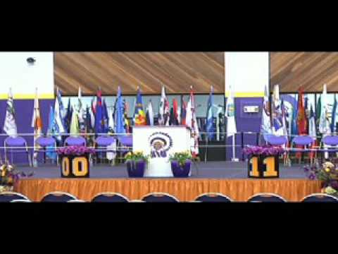 Haskell Indian Nations University Commencement 2016 (starts at 20mins in)