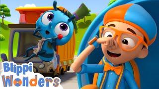 Blippi Wonders - Garbage Truck Adventure!   Blippi Animated Series   Cartoons For Kids