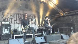We Butter The Bread With Butter - 13 Wünsche (Live @ Die Festung Rockt 2014)