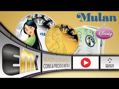 Niue 2$ Dollar Mulan 1 Oz Silver Proof & 25$ Dollar 1/4 Gold Proof 2016