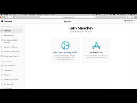 How to Create Development Certificates at iTunes connect.
