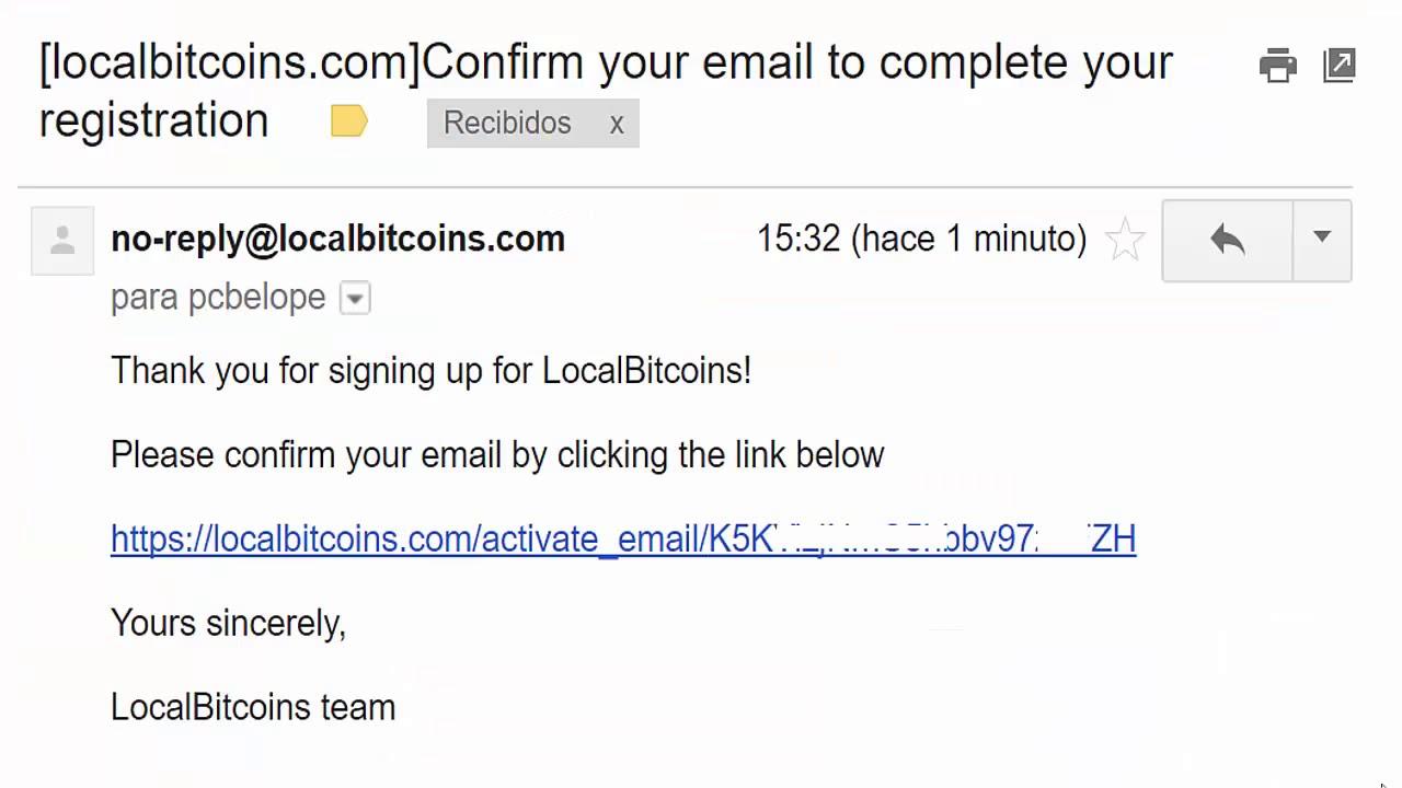 Como abrir una cuenta en Localbitcoins para compra y venta de Bitcoin - YouTube