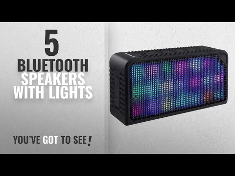 Top 5 Bluetooth Speakers With Lights [2018]: Bluetooth Speakers,URPOWER Hi-Fi Portable Wireless
