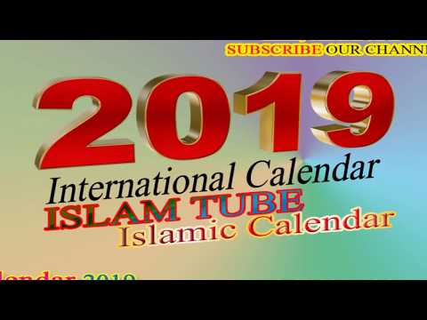 Calendar 2019 | International Islamic dates and Events