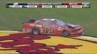 2016 NASCAR Xfinity Series Charlotte Practice - Brandon Hightower Crash