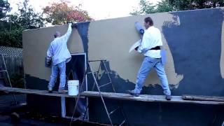 smooth stucco finishing
