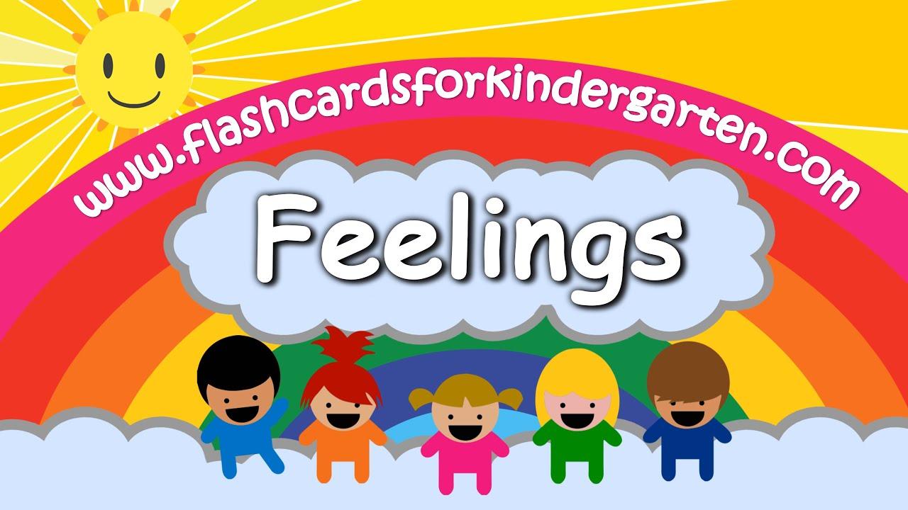 Worksheet Flashcards For Kindergarten learn feelings emotions in 4k vocabulary flashcards for kindergarten com