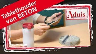 Trendy tablethouder gemaakt van betongietmassa!