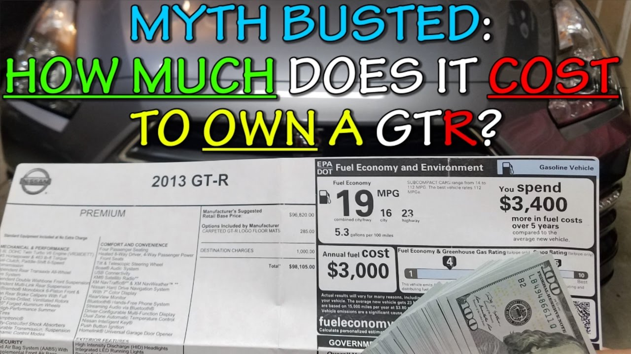 nissan gtr myth busted - how much does it cost to own ??? - youtube