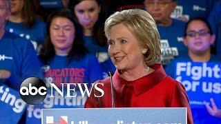 Hillary Clinton's FULL Speech   Wins Nevada Caucuses
