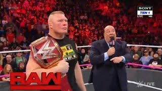 Brock lesnar accepts Jinder Mahal Challenge at Survivor Series WWE RAW 23/10/17 Highlight