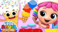 Visiting The Ice Cream Shop | Little Angel Kids Songs & Nursery Rhymes