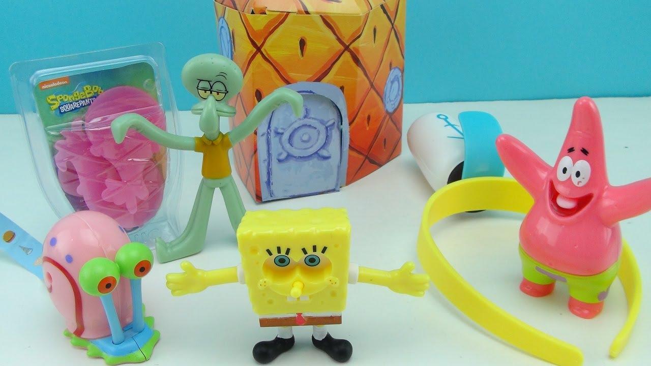 spongebob squarepants sonic wacky pack kids meal toy