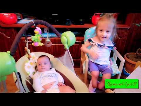 МАЛЫШ В ВОСТОРГЕ😍😘😍 Электронные качели Baby Care Balancelle😀👍