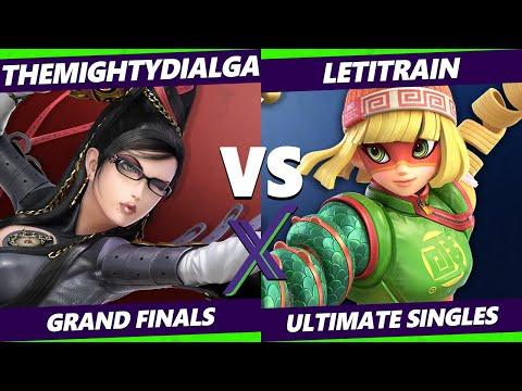 S@X 360 Online Grand Finals - TheMightyDialga (Bayonetta) Vs. LetItRain (Min Min, Cloud) - SSBU