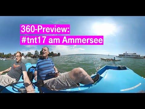 Social Media Post: Telekom Netz Tour 2017: 360-Preview auf dem Ammersee #tnt17