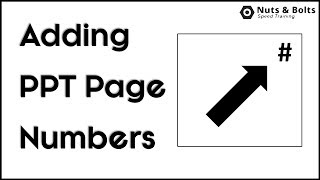 Add PowerPoint Page / Slide Numbers That Show Up Correctly