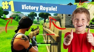 KID GETS HIS FIRST SOLO WIN IN FORTNITE BATTLE ROYALE