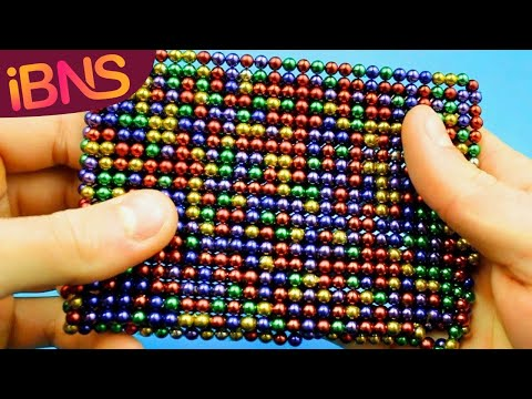 Playing with 1000 mini magnetic balls! (pt. 2, ASMR with 1000 oddly satisfying buckyballs)