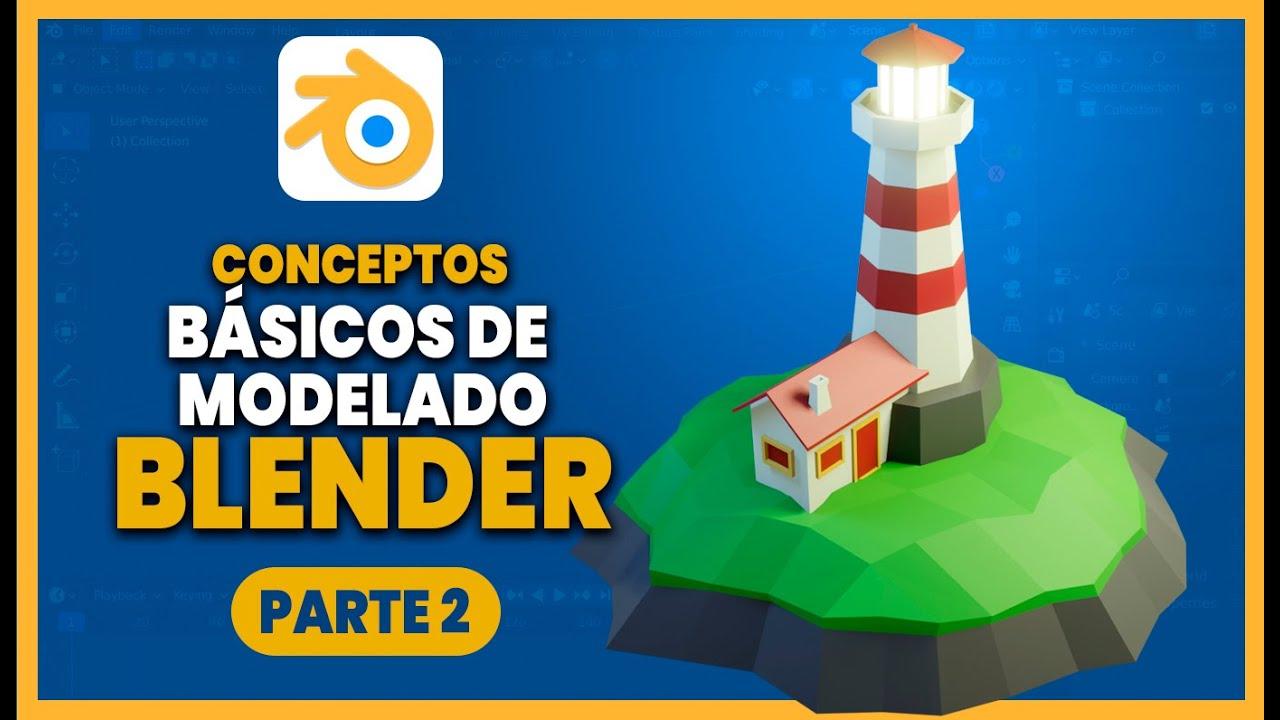 Download Tutorial básico de modelado en BLENDER  😲😲 Aprende modelado fácil en Blender español ::: Parte 2 👈