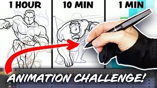 1 Hour | 10 Minute | 1 Minute - ANIMATION CHALLENGE!