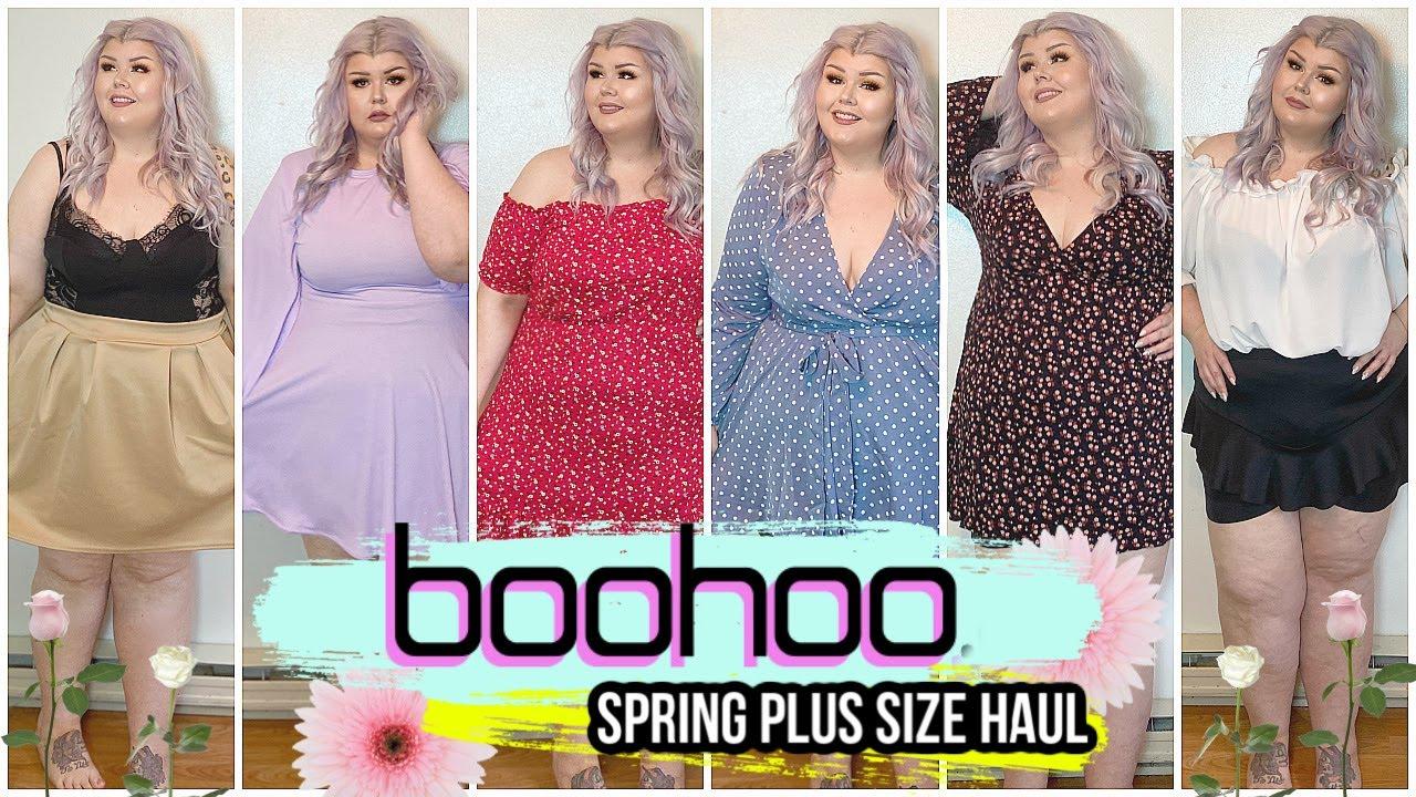 huge boohoo plus size try on haul | spring 2020