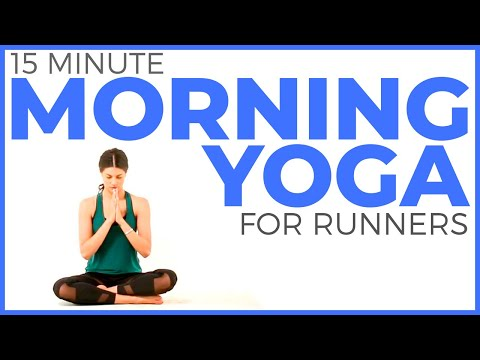 15 minute Simple Morning Yoga for Runners | Sarah Beth Yoga