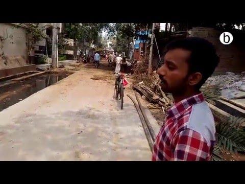 Trees felled in Uttara for widening roads