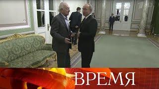 В честь юбилея выдающегося дирижера Юрия Темирканова в Санкт-Петербурге прошел гала-концерт.