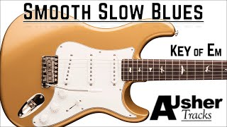 Smooth Slow Blues in E minor   Guitar Backing Track