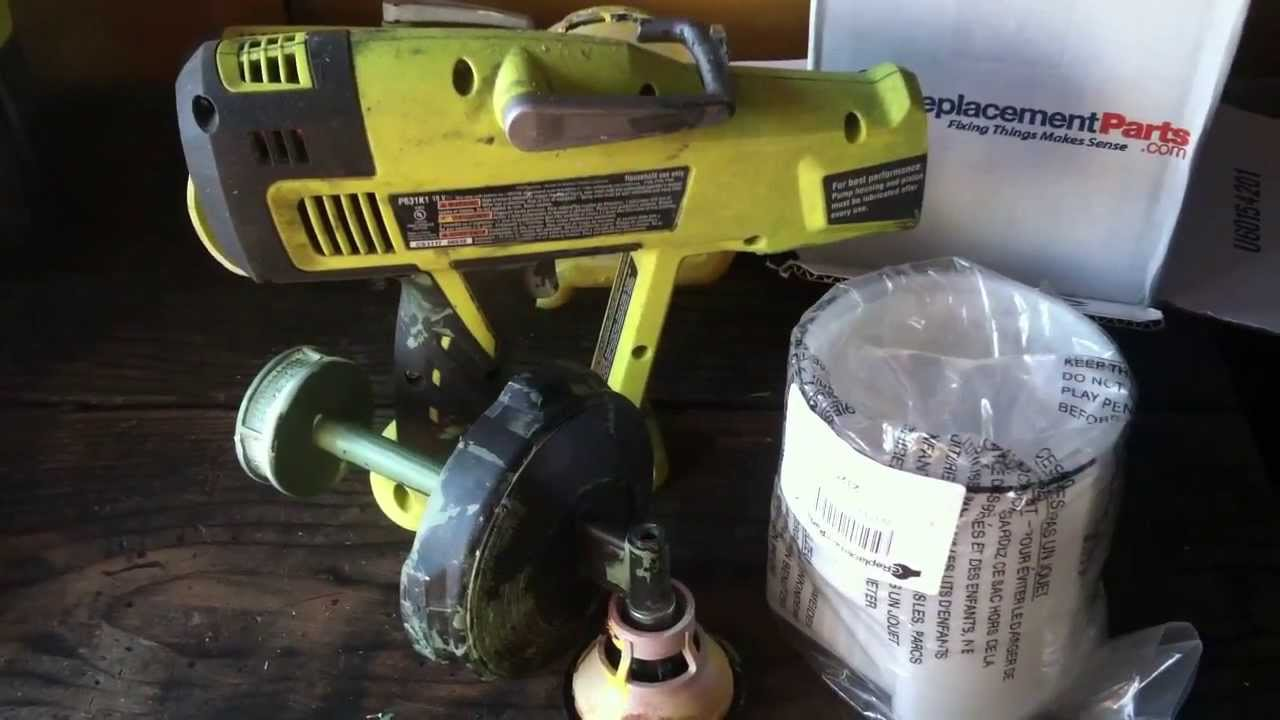 Fixing And Replacement Parts On The Discontinued Ryobi P630 Paint 31ah64fg700 List Diagram 2012 Ereplacementpartscom Sprayer Youtube