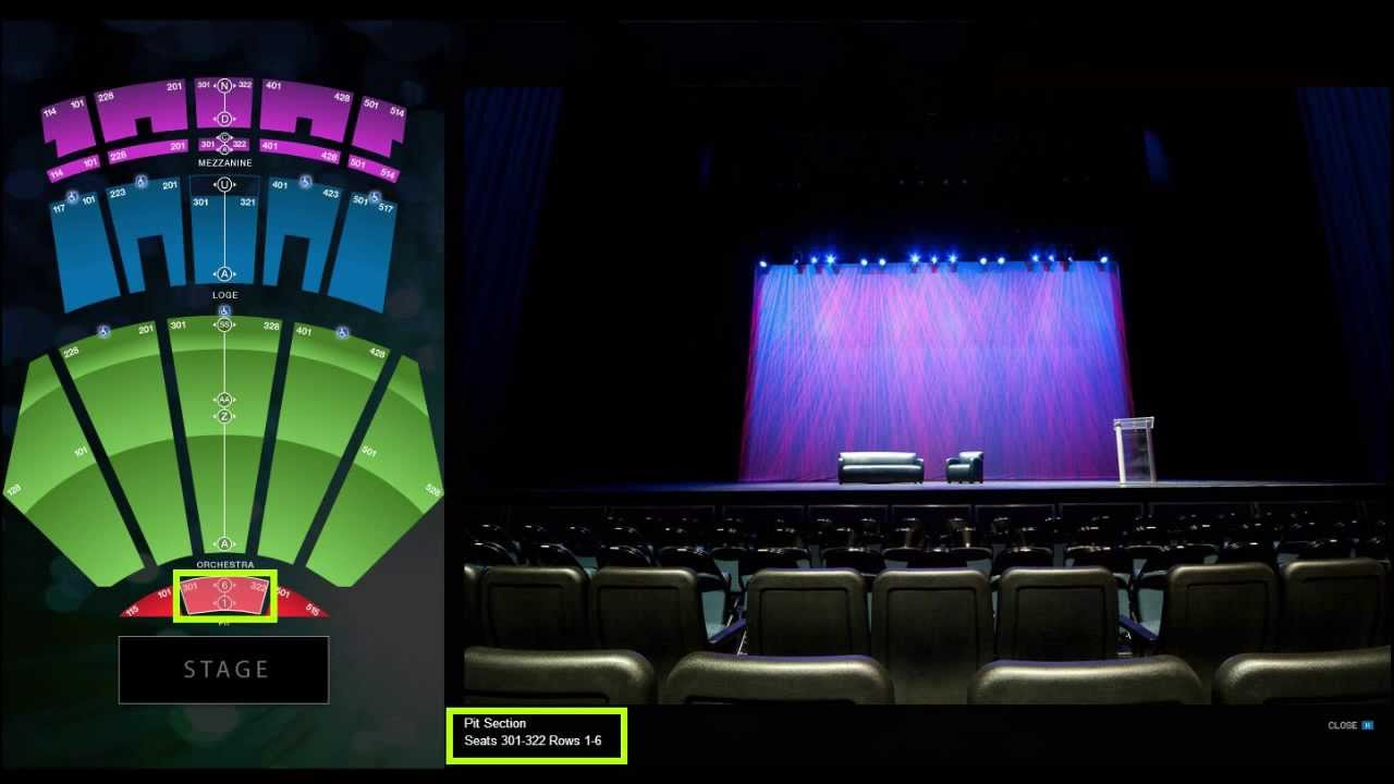 Nokia Theatre Los Angeles Seat Setup