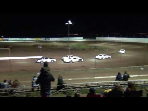 Pure Stock Heat Race 9-28-2013 @ Prescott Valley Raceway Arizona Dirt Track