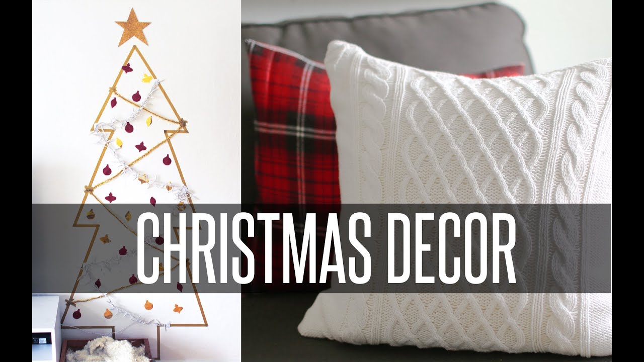 Diy christmas room decor youtube for Room decor christmas