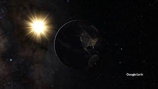 Google Earth Studio 実験動画2 実写ハイパーラプスとの併用