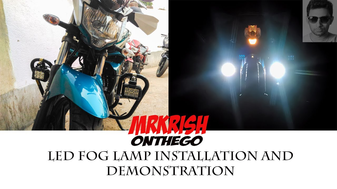 Led Fog Lamp Installation And Demonstration Yamaha Fz S V20 Allextreme 6 Light 1986 Fazer Wiring Diagrams