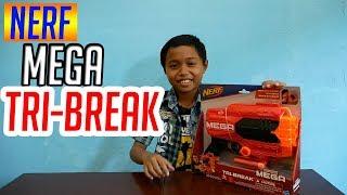 Nerf Mega TRI BREAK (Unboxing, Test, Review) - Battle indo | Permainan Anak