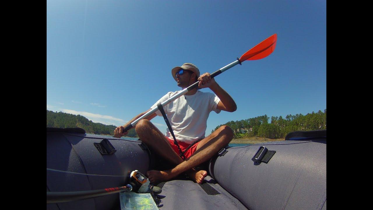 Inflatable kayak fishing bass fishing youtube for Youtube kayak fishing