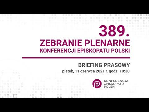 Briefing prasowy 389. Zebranie Plenarne KEP  - 11.06.2001 godz. 10:30