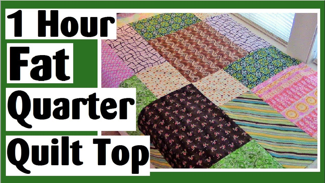 1 Hour Fat Quarter Disappearing 9 Patch Quilt Top
