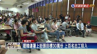 罷韓連署上街頭目標30萬份 上百名志工投入-民視新聞