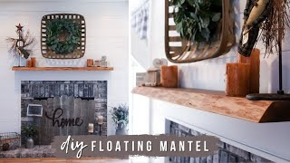 How To Build An Easy Floating Shelf    DIY Live Edge Mantel
