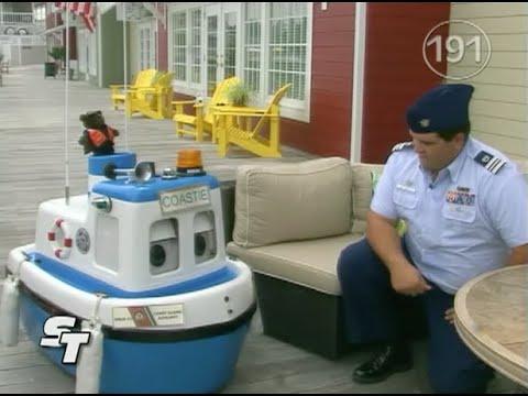 Anderson Braswell of Coast Guard Auxiliary Flotilla 59 on Smithfield Today TV