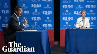 Cynthia Nixon and Andrew Cuomo trade insults in New York governor debate