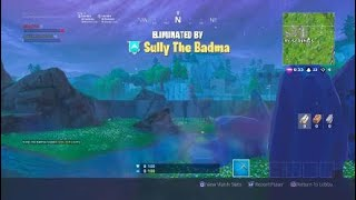 Fortnite 4 kills in loot lake in one shot