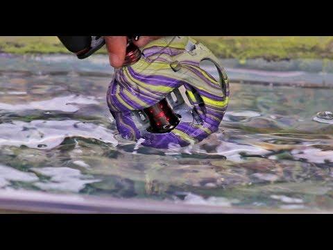 DIY Hydro Dipped Reel! SO SATISFYING! Making CUSTOM Gear ep2