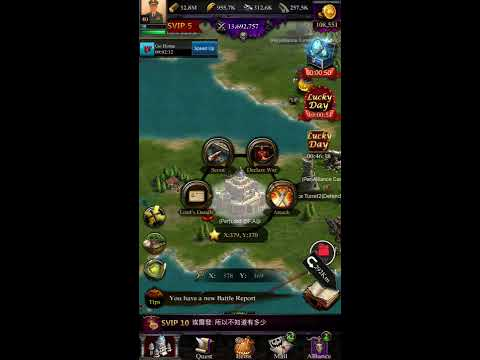 Clash Of Kings Skill Attack On Lvl 23 Castle
